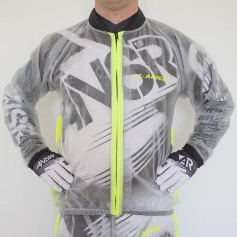 Rain Gear Apico Clear Rain Jacket X Large Clear/Yellow