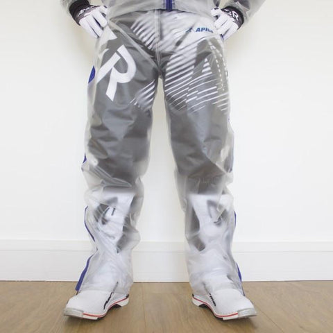 Rain Gear Apico Clear Rain Pant Large Clear/Blue 32/34