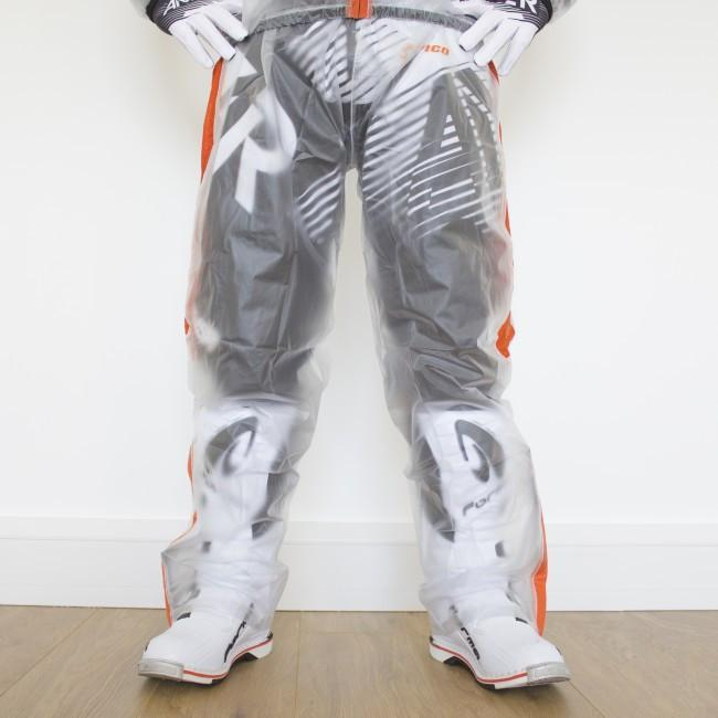 Rain Gear Apico Clear Rain Pant Small Clear/Orange 28/30