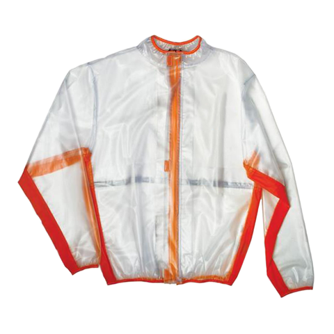 Rain Gear M Dirtbikebitz Motocross & Enduro Rain Jacket - Youth Clear/Orange