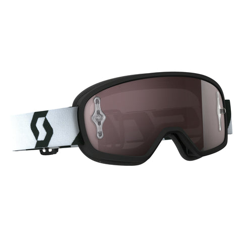 scott motocross goggles Scott Buzz Pro YOUTH Motocross Goggles - Black - Silver Chrome Lens