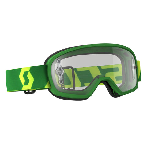 scott motocross goggles Scott Buzz Pro YOUTH Motocross Goggles - Green - Clear Lens