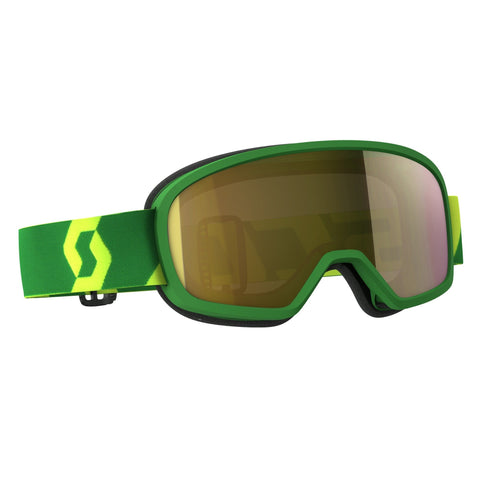 scott motocross goggles Scott Buzz Pro YOUTH Motocross Goggles - Green - Silver Chrome Lens