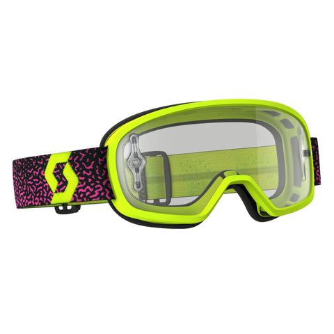 scott motocross goggles Scott Buzz Pro YOUTH Motocross Goggles - Yellow Purple - Clear Lens