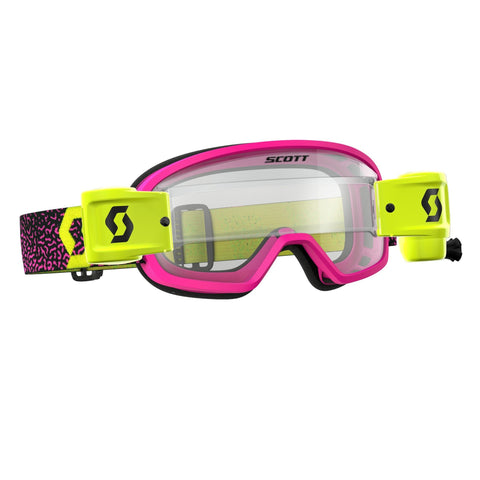 scott motocross goggles Scott Buzz YOUTH Motocross Goggles - Works Roll-Off System - Pink Yellow
