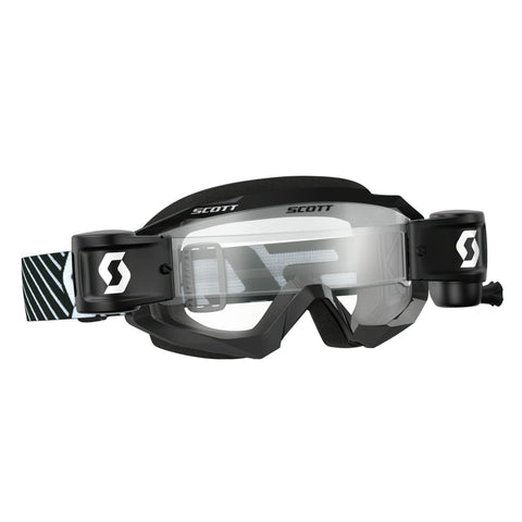 scott motocross goggles Scott Hustle Motocross Goggles - Works Roll-Off System - Black White