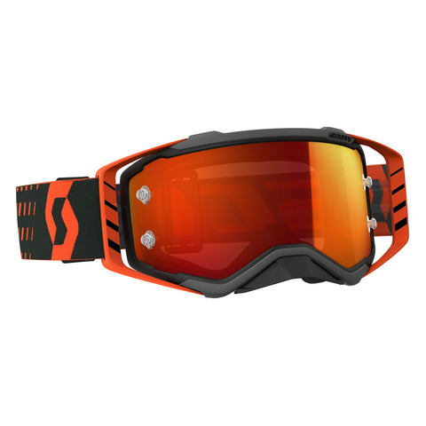 scott motocross goggles Scott Prospect Motocross Goggles - Black Orange Orange Chrome