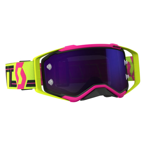 scott motocross goggles Scott Prospect Motocross Goggles - Pink Yellow Blue Chrome