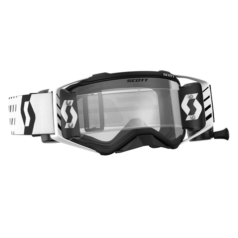 scott motocross goggles Scott Prospect Motocross Goggles - Works Roll-Off System - Black White