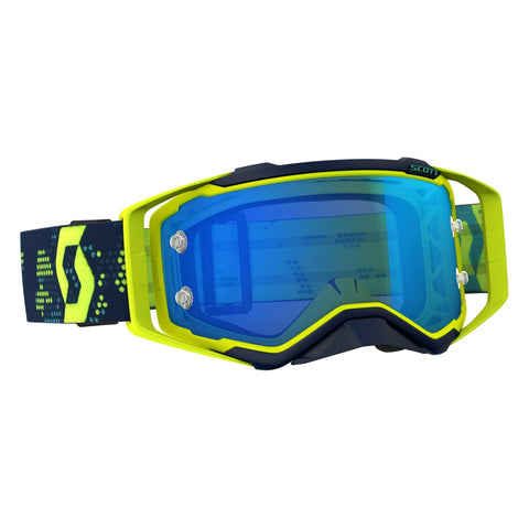 scott motocross goggles Scott Prospect Motocross Goggles - Yellow Blue Blue Chrome