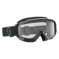 Scott Split OTG  Enduro Goggles - Black White - Clear Lens
