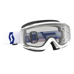 Scott Split OTG Goggles - White - Clear Lens