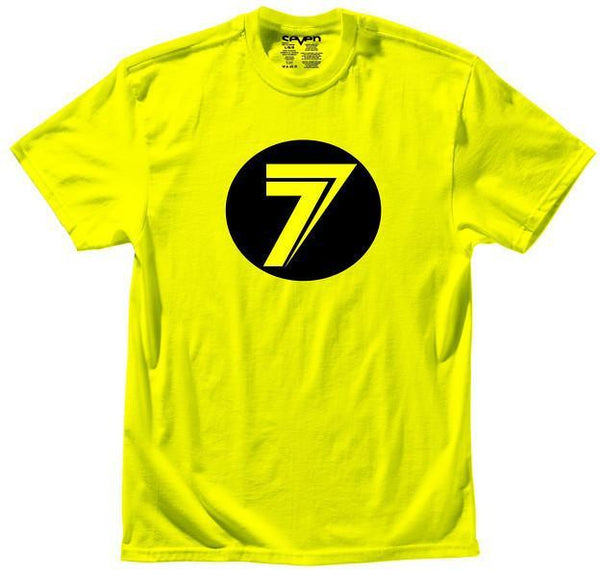 Seven Casual Wear Large Seven MX - DOT - Flou Yellow T-Shirt