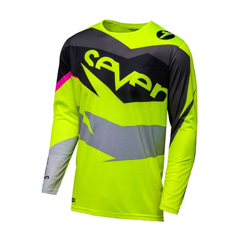 Seven Motocross Jerseys 2018 Seven MX 18.1 Annex Ignite YOUTH Motocross Jersey - Black/Fluo Yellow