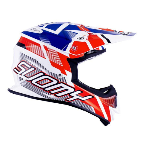 Suomy Motocross Helmets 2018 Suomy Mr Jump Motocross Helmet - Special White / Blue / Red