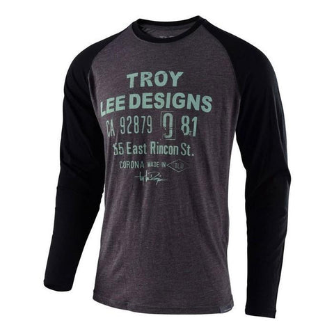 Troy Lee Casual Wear Troy Lee Designs Cargo LS T-Shirt - Charcoal / Black