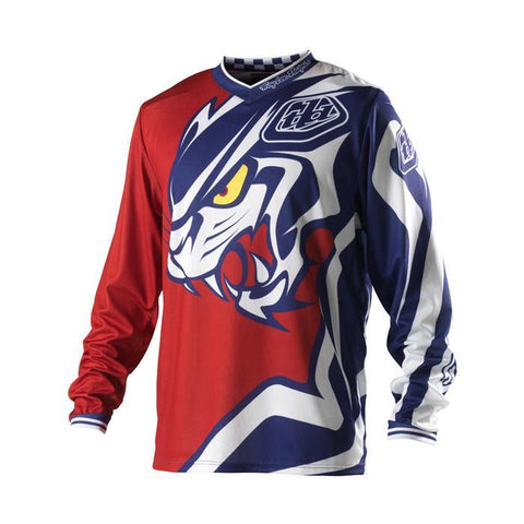 Troy Lee Clearance Jerseys 2017 Troy Lee Predator Jersey - Red - Medium