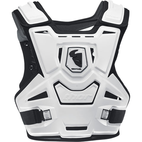 Thor 2019 Sentinel Youth MX Motocross & Enduro Chest Protector - White/Black