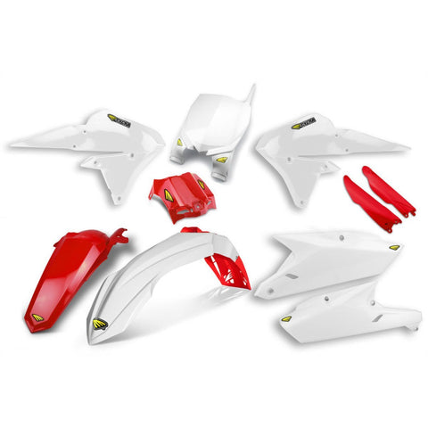 Yamaha Complete Plastics Kits YZ-F 250/450 14-17 Cycra Power Flow Full Plastics Kit Yamaha YZ/YZ-F 125-450 -2015-2018 - White/Red