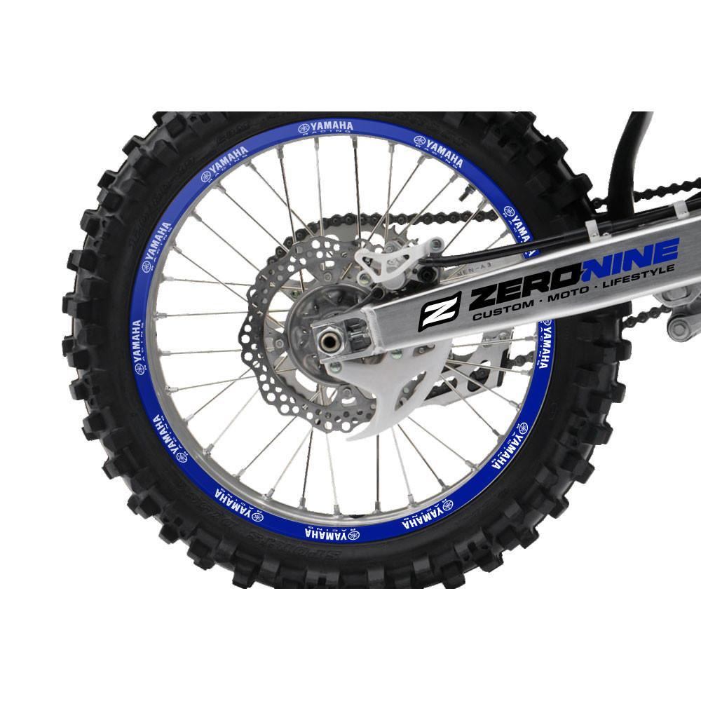 Yamaha Rim Decals Blue Yamaha Rim Decal Kit