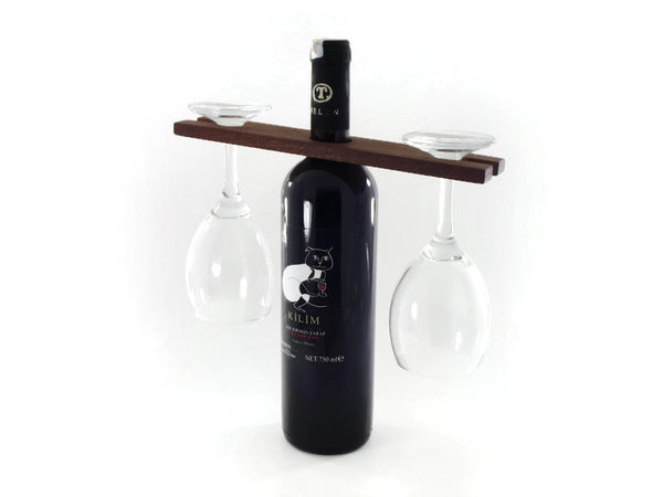 Mahogany Wood Wine Glass Holder