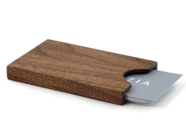 American Walnut Business Card Case