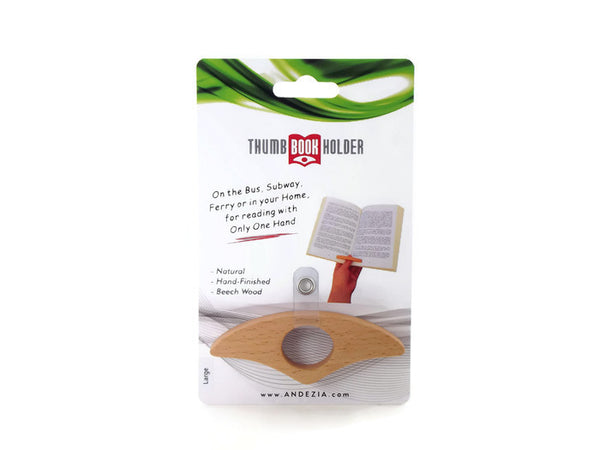 Beech Thumb Book Holder w/ Retail Pack