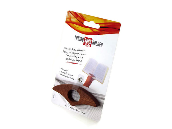 Mahogany Thumb Book Holder w/ Retail Pack