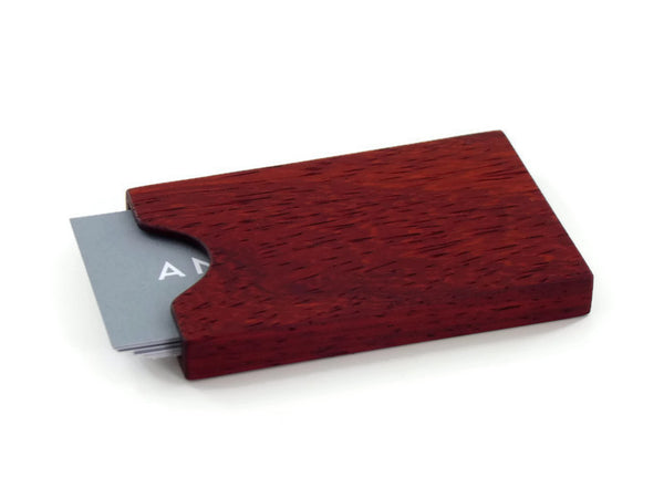 Padauk Business Card Case