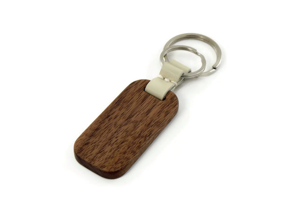 American Walnut Key Ring