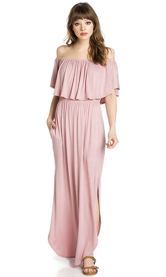 MAKING ME BLUSH MAXI DRESS - Annalee Rose Boutique