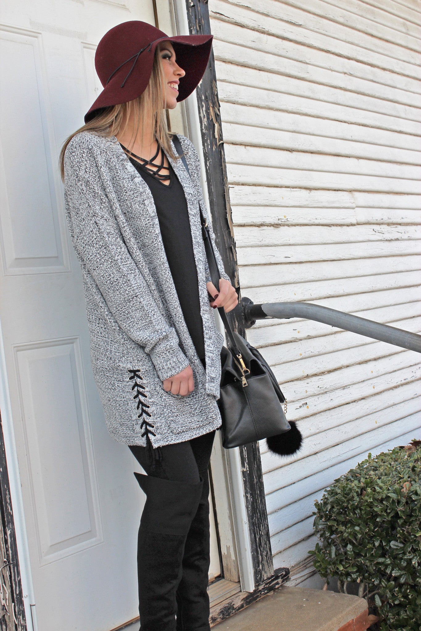 ALL LACED UP CARDIGAN - Annalee Rose Boutique