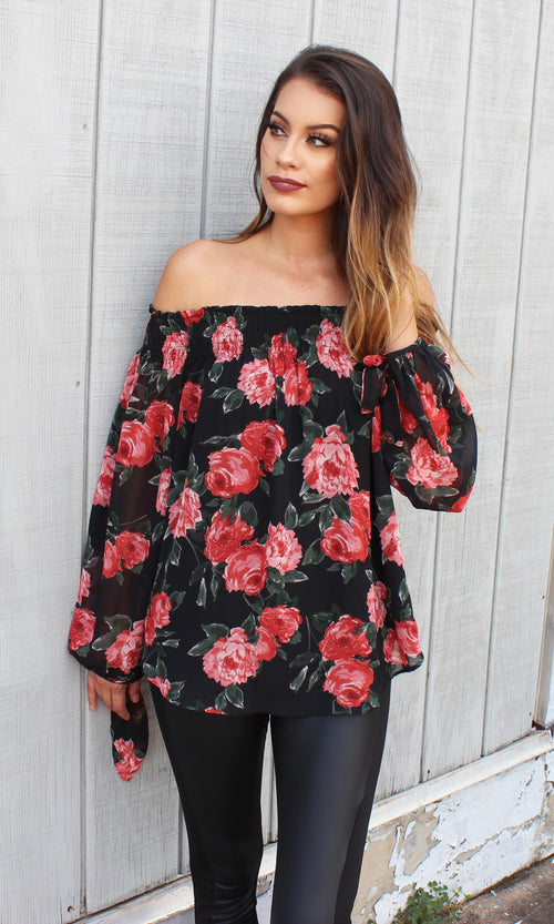 ALL ROSES TOP (RESTOCKED)