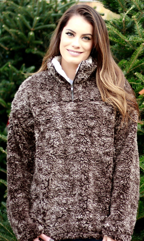 CUDDLE ME PULLOVER (BROWN)