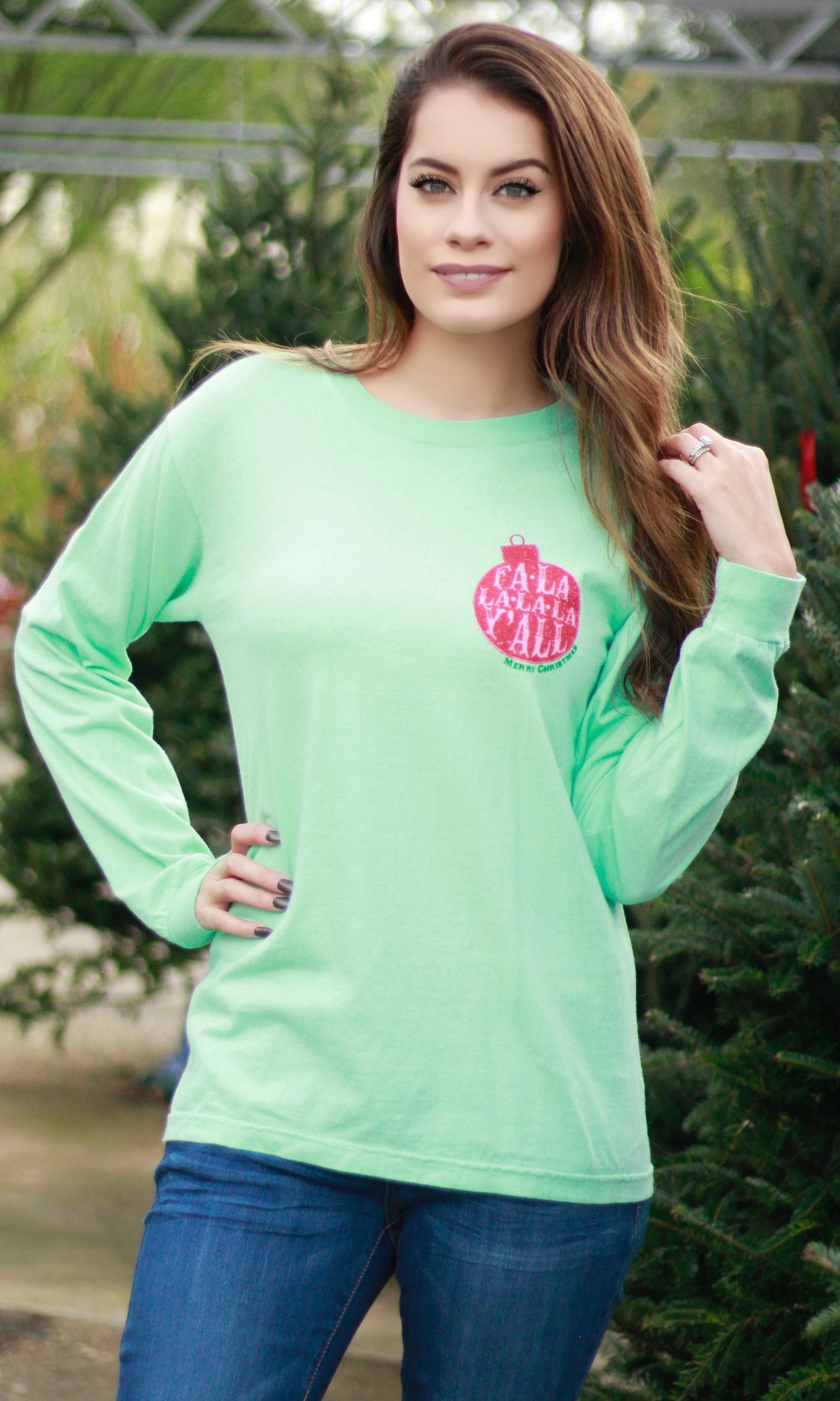 FA-LA-LA-LA-LA Y'ALL LONG SLEEVE TEE