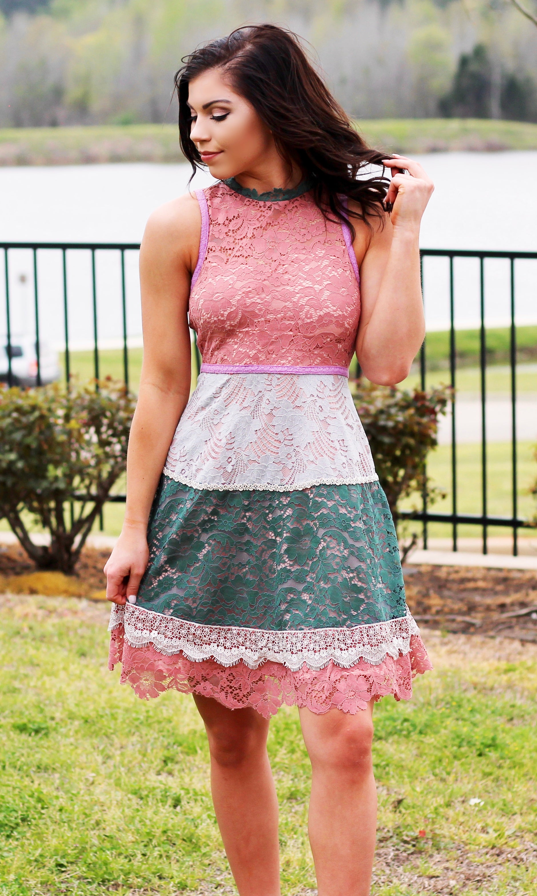 MARILYN LACE DRESS