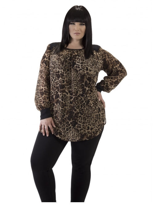 ANIMAL INSTINCTS TUNIC (PLUS) - Annalee Rose Boutique