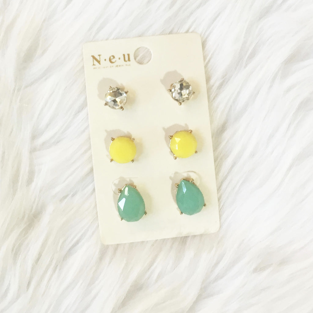 SUNSHINE EARRING TRIO - Annalee Rose Boutique