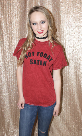 NOT TODAY SATAN TEE - Annalee Rose Boutique