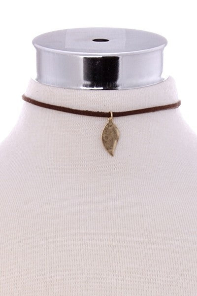 GOLDEN LEAF CHOKER - Annalee Rose Boutique