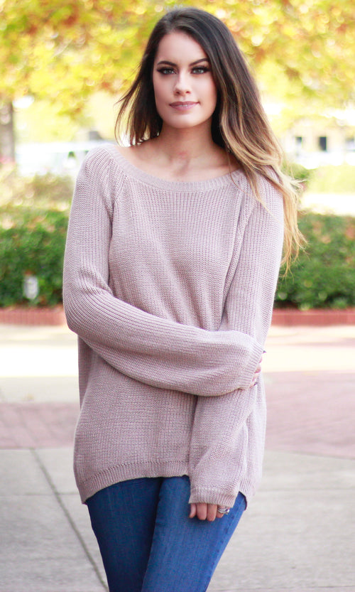 BRINGING BACK THAT LOVING FEELING SWEATER (CAMEL)