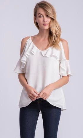 GIVIN' THE COLD SHOULDER TOP