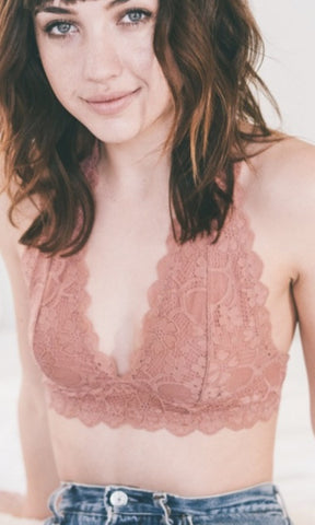LACE HALTER BRALETTE - Annalee Rose Boutique