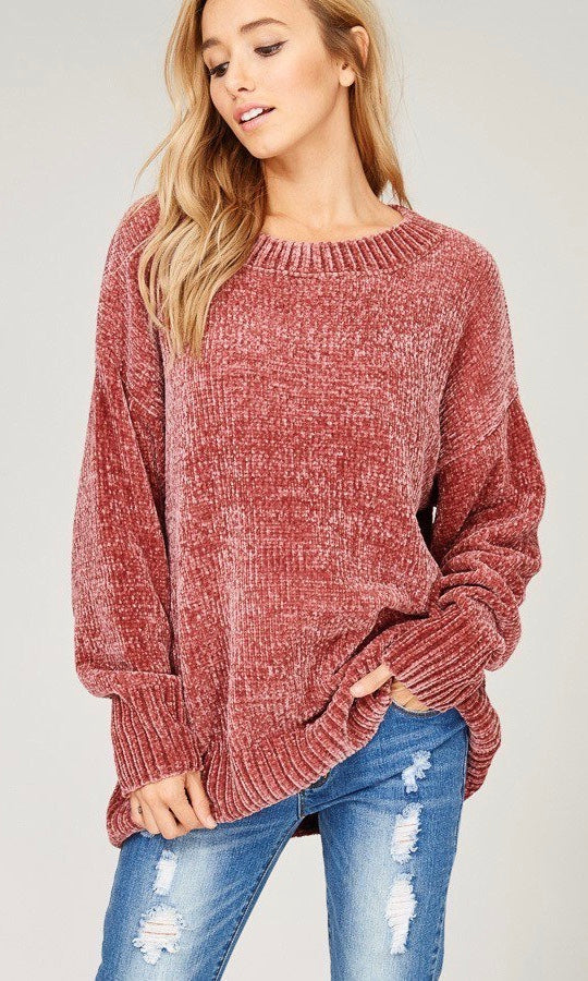 VELVETEEN SWEATER (ROSE)