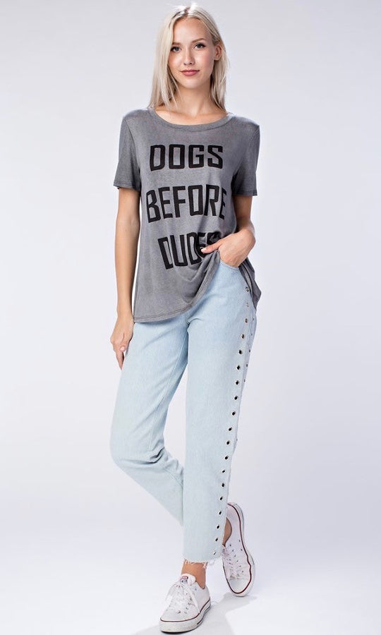 DOGS BEFORE DUDES TEE