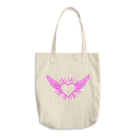 Flying Heart Pink Tote Bag