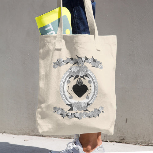 Burning Heart Tote Bag - Azzurra Soul