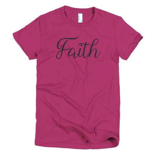 Faith Black T-shirt - Azzurra Soul