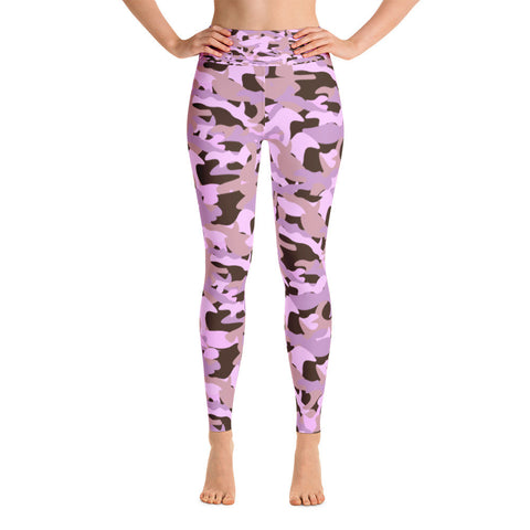 Navy and Pink Tie Dye Yoga Leggings