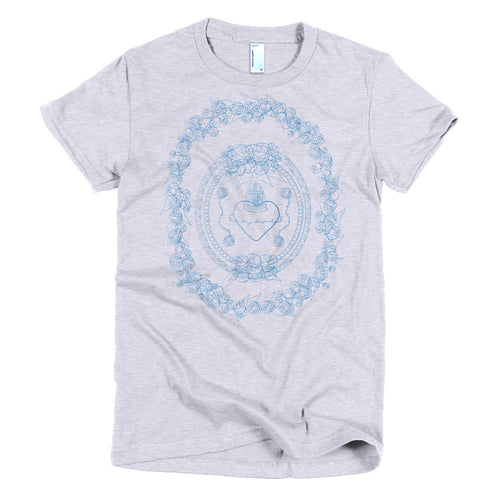 Rustic Burning Heart Blue t-shirt - Azzurra Soul